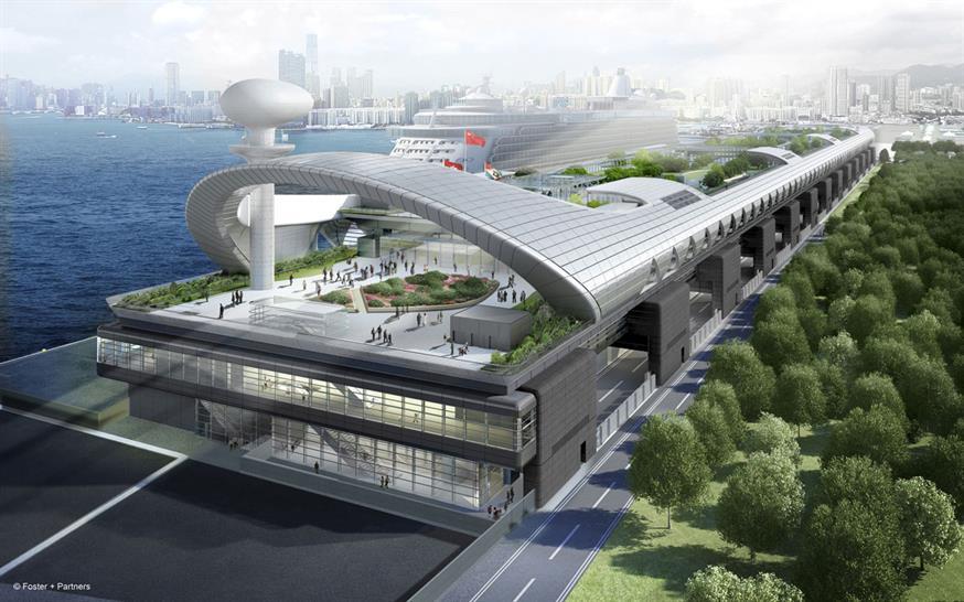 Kai Tak cruise terminal in Hong Kong, Foster & Partners