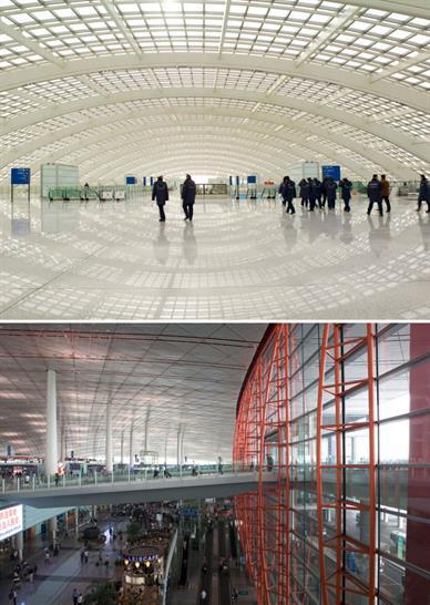 Beijing International Airport: Nigel Young / Foster + Partners