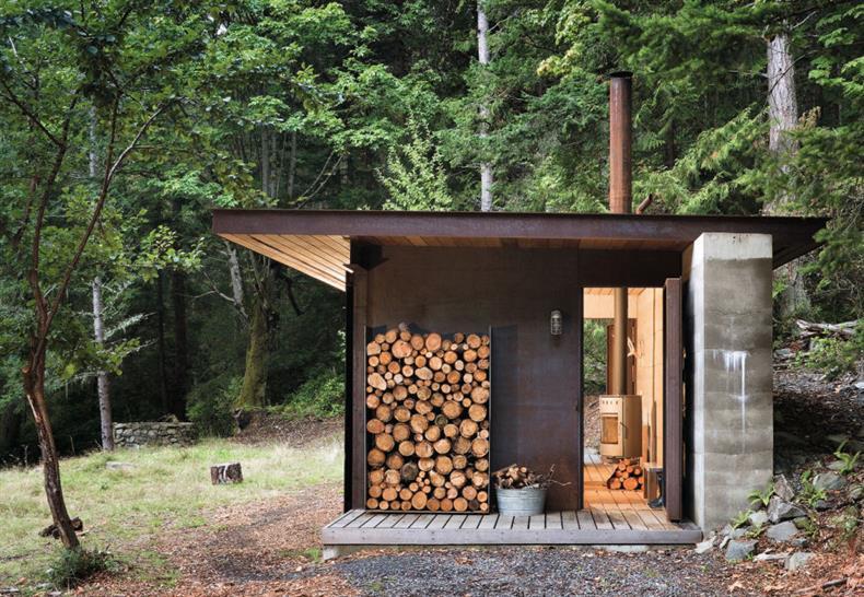 Olson Kundig, Gulf Islands Cabin Gulf Islands, British Columbia, Canada. Image: Olson Sundberg Kundig Allen Architects/TASCHEN