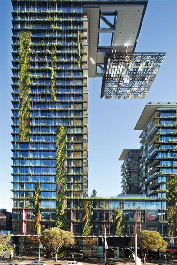 One Central Park, Sydney by Ateliers Jean Nouvel and PTW Architects; Photo courtesy of LEAF Awards