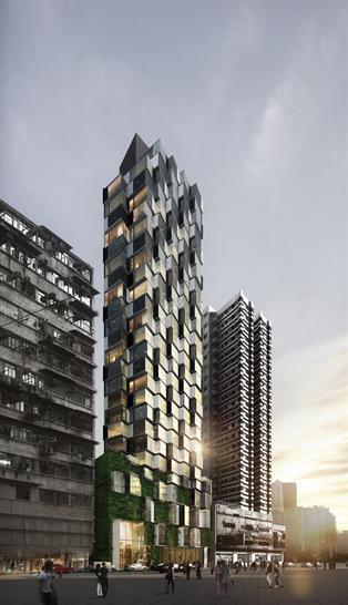 Mongkok Residence, Hong Kong by Aedas; Photo courtesy of LEAF Awards