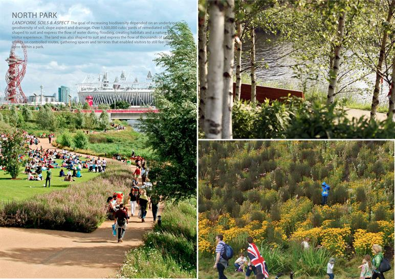 Queen Elizabeth Olympic Park in London by Hargreaves Associates