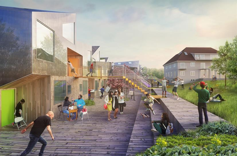 Haugen-Zohar Arkitekter Sustainable housing for youngsters