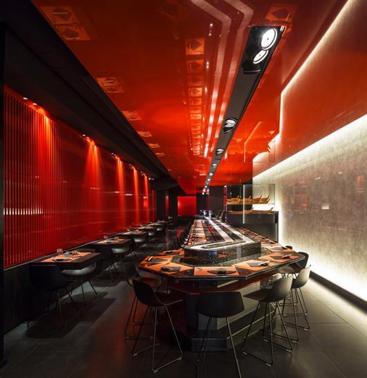 Zen Sushi Restaurant, Italy by Carlo Berarducci Architecture