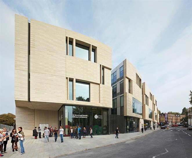 University of Greenwich by Heneghan Peng Architects. Rob Parrish