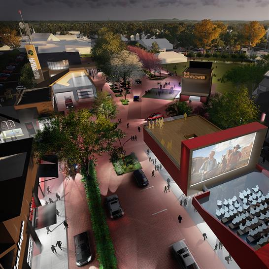 """<a href=""""http://bit.ly/1orrrmQ"""" target=""""_blank"""">Slow Street: A New Town Centre for Mayflower</a> by University of Arkansas Community Design Center"""