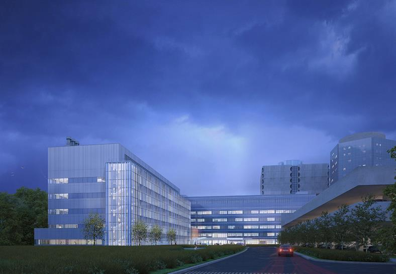 """<a href=""""http://bit.ly/1PCnT82"""" target=""""_blank"""">Stony Brook University/Stony Brook Medicine MART Building and New Bed and Support Tower</a> by Stony Brook in the United States by AECOM and Pelli Clarke Pelli"""