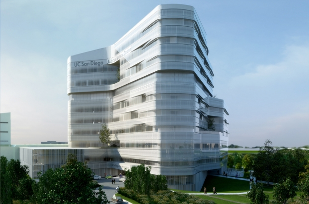 """<a href=""""http://backstage.worldarchitecturenews.com/wanawards/project/uc-san-diego-jacobs-medical-center/?source=sector&selection=all"""" target=""""_blank"""">UC San Diego Jacobs Medical Center</a> by Yazdani Studio of CannonDesign"""