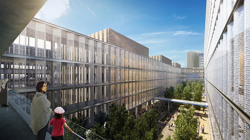 """<a href=""""http://backstage.worldarchitecturenews.com/wanawards/project/new-national-cancer-institute/?source=sector&mode=listing&selection=all"""" target=""""_blank"""">New National Cancer Institute</a> by Skidmore, Owings & Merrill LLP & SOM   ATCHAIN"""