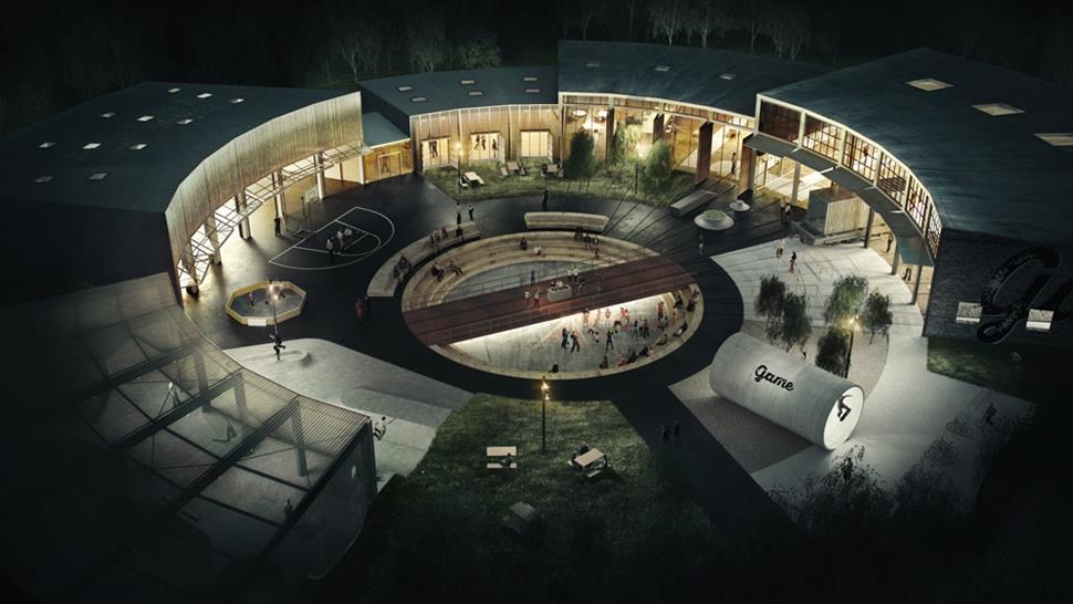 "<a href=""http://backstage.worldarchitecturenews.com/wanawards/project/game-streetmekka-street-sports-and-culture-facility/?source=sector&selection=all"" target=""_blank"">GAME StreetMekka</a> EFFEKT Architects &copy; EFFEKT"