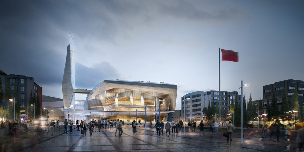 """<a href=""""http://backstage.worldarchitecturenews.com/wanawards/project/confidential-multi-purpose-cultural-centre/?source=sector&mode=listing&selection=all"""" target=""""_blank"""">Istanbul Cultural Center</a> by Adrian Smith + Gordon Gill Architecture</a>"""