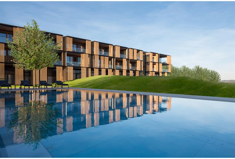 """<a href=""""http://backstage.worldarchitecturenews.com/wanawards/project/lanserhof-tegernsee-new/?source=sector&selection=longlist"""" target=""""_blank"""">Lanserhof Tegernsee</a> by ingenhoven architects &copy; HGEsch"""
