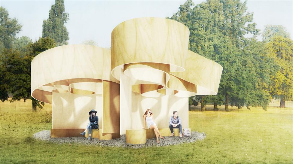 Serpentine Summer House 2016 designed by Barkow Leibinger; Design render © Barkow Leibinger