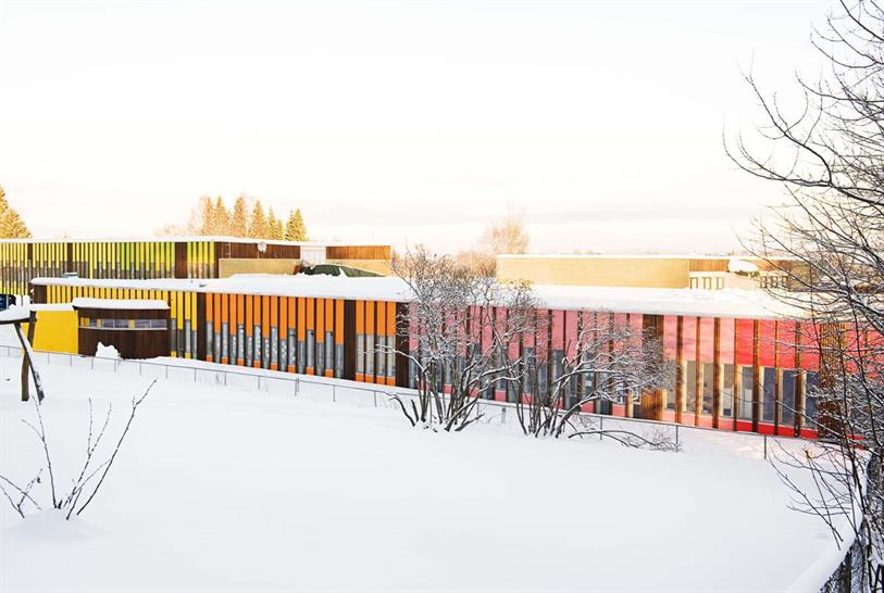 """<a href=""""http://backstage.worldarchitecturenews.com/wanawards/project/b-nsmoen-primary-school/?source=sector&selection=longlist"""" target=""""_blank"""">Bonsmoen Primary School</a> by Fortunen AS © Merethe S Odland"""