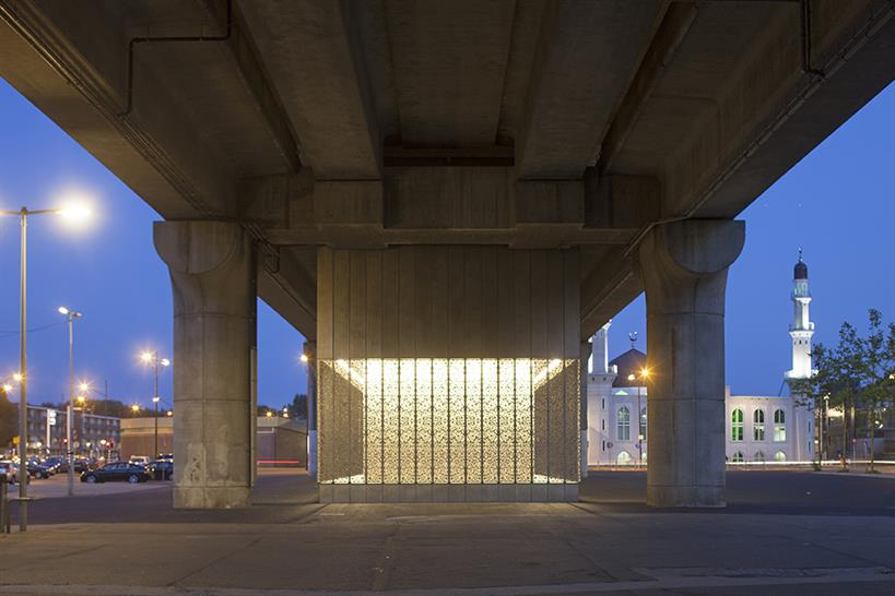 "<a href=""http://backstage.worldarchitecturenews.com/wanawards/project/kraaiennest-metro-station-new/?source=sector&selection=all"" target=""_blank"">Kraaiennest Metro Station</a> by Maccreanor Lavington &copy; Luuk Kramer"