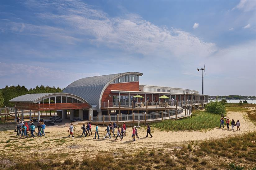 "<a href=""http://backstage.worldarchitecturenews.com/wanawards/project/chesapeake-bay-foundation-brock-environmental-center/"" target=""_blank"">Chesapeake Bay Foundation, Brock Environmental Center by SmithGroupJJR ©Prakash Patel Photography</a>"