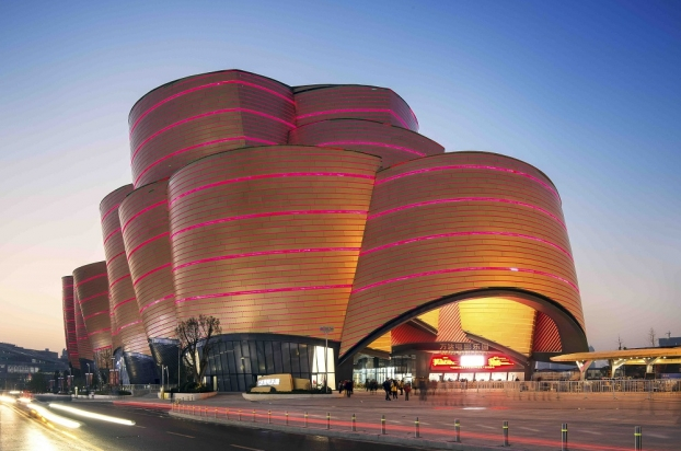 Wanda Movie Park, Wuhan, China Stufish Entertainment Architects - Shortlisted in the WAN Awards 2015 - Facades