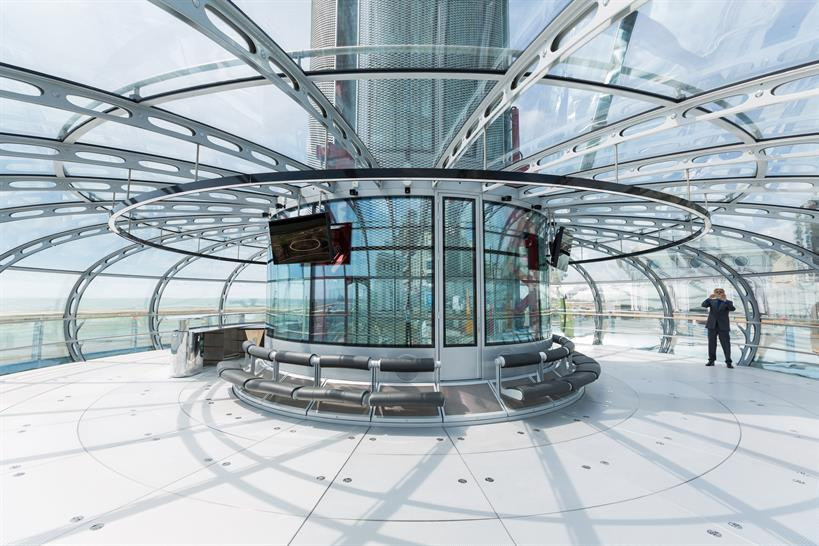 The pod's futuristic interior © British Airways i360