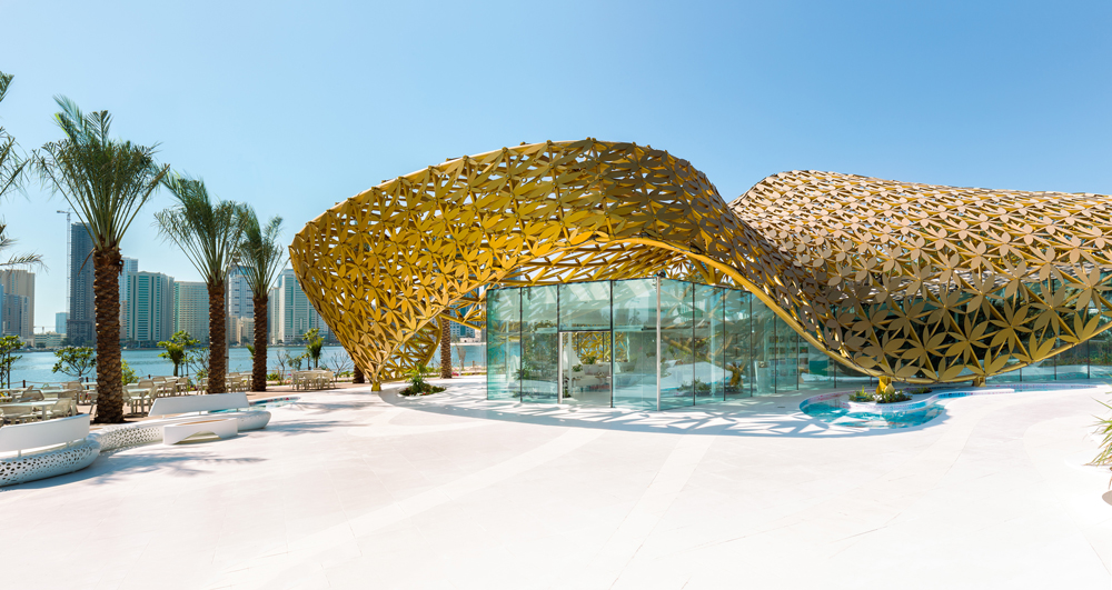 """<a href=""""http://backstage.worldarchitecturenews.com/wanawards/project/butterfly-pavilion-noor-island/?source=sector&selection=longlist"""" target=""""_blank"""">Butterfly Pavilion – Noor Island</a> by 3deluxe © Torsten Seidel"""