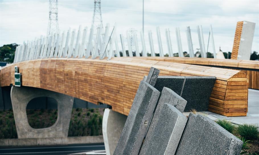 "<a href=""http://backstage.worldarchitecturenews.com/wanawards/project/taumanu-reserve-bridge/?source=sector&selection=longlist"" target=""_blank"">Taumanu Reserve Bridge</a> by Isthmus Group © David St George"
