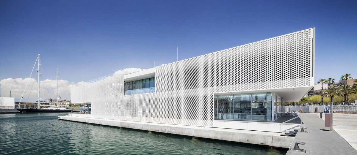 """<a href=""""http://backstage.worldarchitecturenews.com/wanawards/project/oneocean-port-vell/"""" target=""""_blank"""">OneOcean Port Vell</a> by © SCOB Architecture & Landscape"""