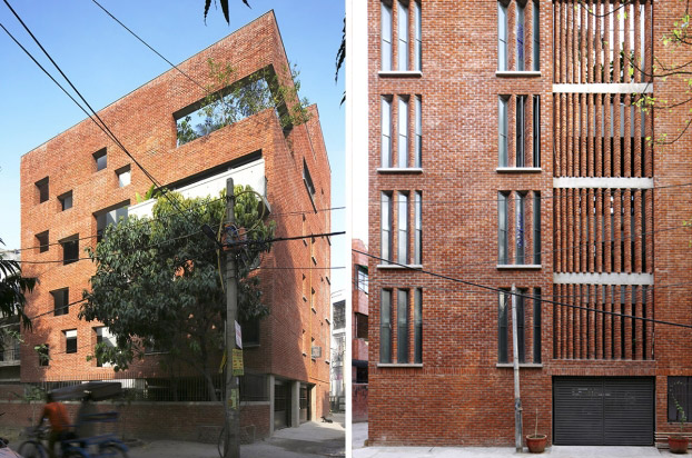 "<a href=""http://backstage.worldarchitecturenews.com/wanawards/project/house-with-a-brick-veil/"" target=""_blank"">House with a Brick Veil</a> in New Delhi, India by Studio Lotus © Edmund Sumner"