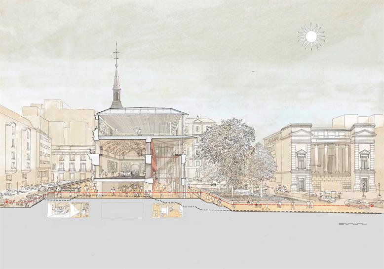 Prado Museum competition - Image credit: Foster + Partners