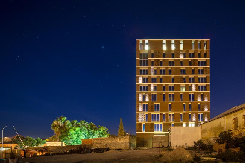 "<a href=""http://backstage.worldarchitecturenews.com/wanawards/project/lubango-centre/?source=sector&selection=all"" target=""_blank"">Lubango Centre</a> by PROMONTORIO © Fernando Guerra | FG+SG"