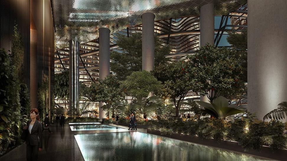 "<a href=""http://backstage.worldarchitecturenews.com/wanawards/project/marina-one-singapore/"" target=""_blank"">Marina One Singapore</a> by &copy; ingenhoven architects"