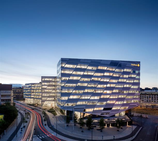 "<a href=""http://backstage.worldarchitecturenews.com/wanawards/project/swedbank-headquarters/"" target=""_blank"">Swedbank Headquarters</a> by 3XN Architects © Adam Mørk"