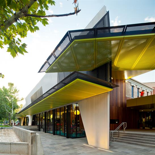 "<a href=""http://backstage.worldarchitecturenews.com/wanawards/project/bendigo-library-refurbishment/"" target=""_blank"">Bendigo Library Refurbishment</a> by MGS Architects &copy; Andrew Latreille"