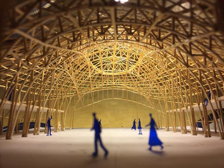 "<a href=""http://backstage.worldarchitecturenews.com/wanawards/project/assembly-indoor-sports-hall-for-panyaden-international-school/"" target=""_blank"">Assembly & Indoor Sports Hall</a> by Chiangmai Life Architects & Construction, © Markus Roselieb"