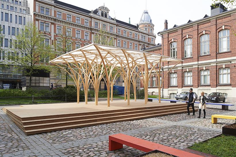 "<a href=""http://backstage.worldarchitecturenews.com/wanawards/project/s-ie-pavilion/"" target=""_blank"">Säie Pavilion</a> by Aalto University Wood Program © Kimmo Räisänen"