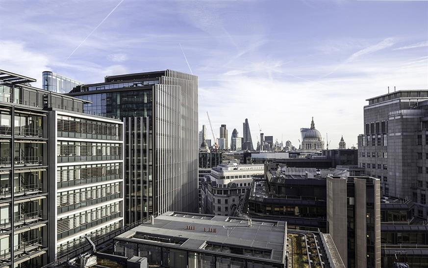 """<a href=""""http://backstage.worldarchitecturenews.com/wanawards/project/one-new-street-square/"""" target=""""_blank"""">One New Street Square</a> by &copy; Robin Partington &amp; Partners"""