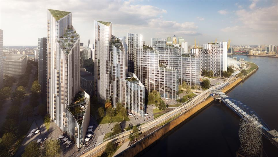 Greenwich Peninsula residential development by Allies and Morrison