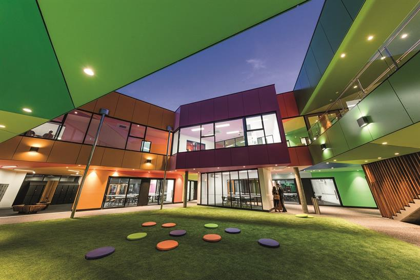 """<a href=""""http://backstage.worldarchitecturenews.com/wanawards/project/ivanhoe-grammar-senior-years-science/"""" target=""""_blank"""">Ivanhoe Grammar Senior Years &amp; Science Centre</a> by McBride Charles Ryan &copy; John Gollings"""
