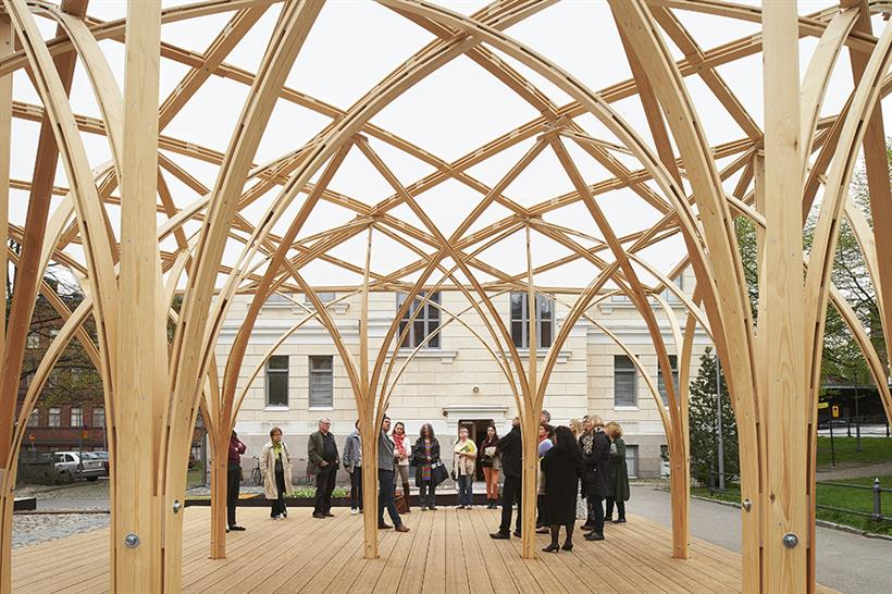 "<a href=""http://backstage.worldarchitecturenews.com/wanawards/project/s-ie-pavilion/"" target=""_blank"">Säie Pavilion</a> by Aalto University Wood Program &copy; Kimmo Räisänen"