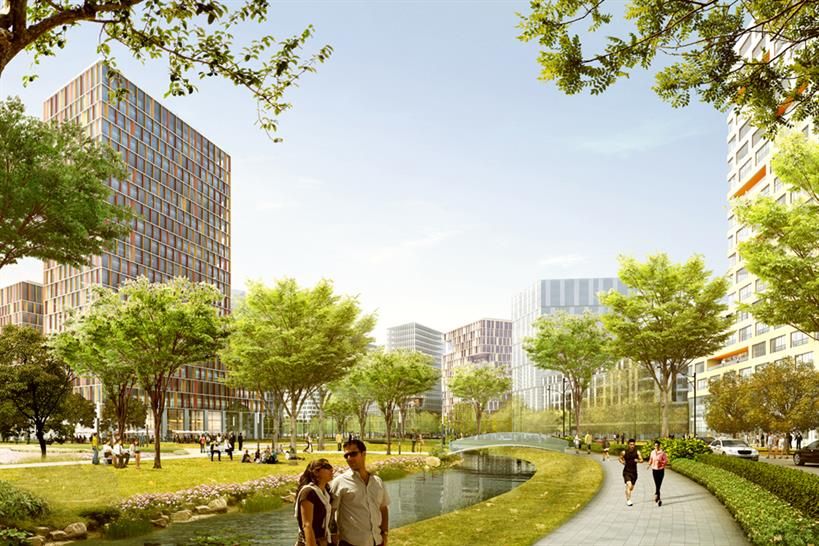 "<a href=""http://backstage.worldarchitecturenews.com/wanawards/project/masterplan-ifc-moscow/"" target=""_blank"">Masterplan IFC Moscow</a> by ASTOC Architects and Planners copy; Illustration: Play-Time, Barcelona"