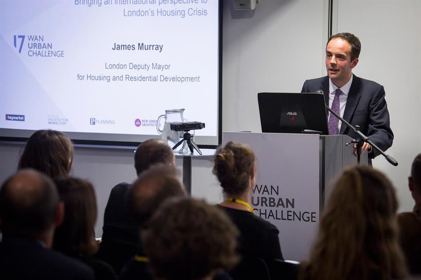 James Murray, London deputy mayor for housing © Julian Dodd