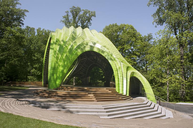 "<a href=""https://backstage.worldarchitecturenews.com/wanawards/project/the-chrysalis-amphitheater-new/"" target=""_blank"">The Chrysalis Amphitheater</a> by MARC FORNES / THEVERYMANY &copy; THEVERYMANY"