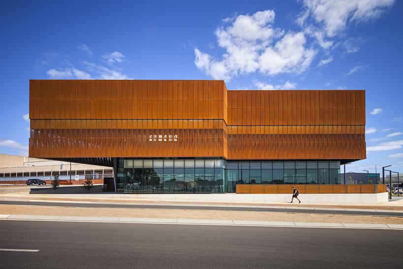 """<a href=""""https://backstage.worldarchitecturenews.com/wanawards/project/south-australia-drill-core-reference-library/"""" target=""""_blank"""">South Australia Drill Core Reference Library</a> by Thomson Rossi &copy; David Sievers Photography"""