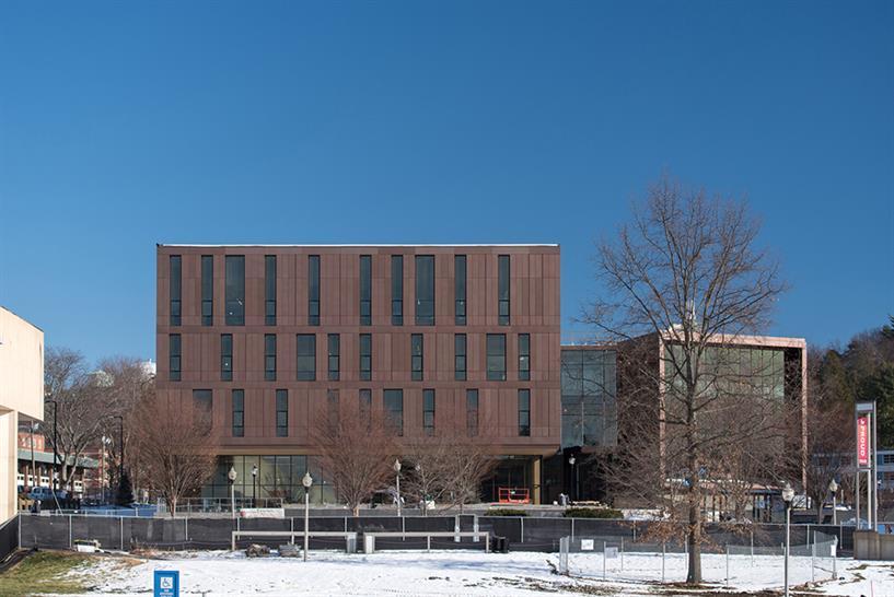 "<a href=""https://backstage.worldarchitecturenews.com/wanawards/project/university-of-massachusetts-design-building/"" target=""_blank"">University of Massachusetts Design Building</a> by Leers Weinzapfel Associates &copy; Albert Vecerka / Esto"