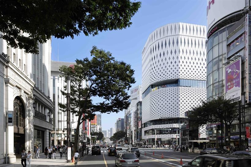 "<a href=""https://backstage.worldarchitecturenews.com/wanawards/project/ginza-place/"" target=""_blank"">Ginza Place</a> by &copy; Klein Dytham architecture"