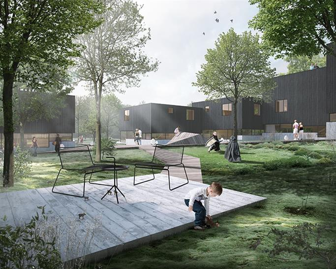 """<a href=""""https://backstage.worldarchitecturenews.com/wanawards/project/the-clusters-in-the-forest/"""" target=""""_blank"""">The Clusters in the Forest</a> by © FRIIS & MOLTKE Architects"""