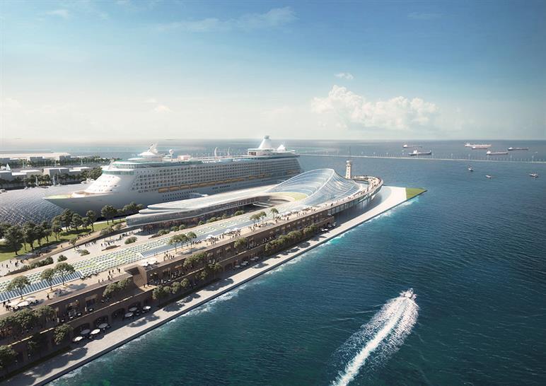 "<a href=""https://backstage.worldarchitecturenews.com/wanawards/project/dalian-harbour-international-cruise-terminal/"" target=""_blank"">Dalian Harbour International Cruise Terminal</a> by © Woods Bagot"