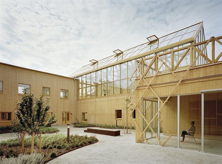 "<a href=""https://backstage.worldarchitecturenews.com/wanawards/project/the-gardens-elderly-center/"" target=""_blank"">The Gardens Elderly Center</a> by Marge Arkitekter © Johan Fowelin"
