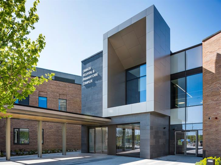 "<a href=""https://backstage.worldarchitecturenews.com/wanawards/project/omagh-hospital-primary-care-complex/"" target=""_blank"">Omagh Hospital & Primary Care Complex</a> by TODD Architects &copy; Chris Hill Photography"