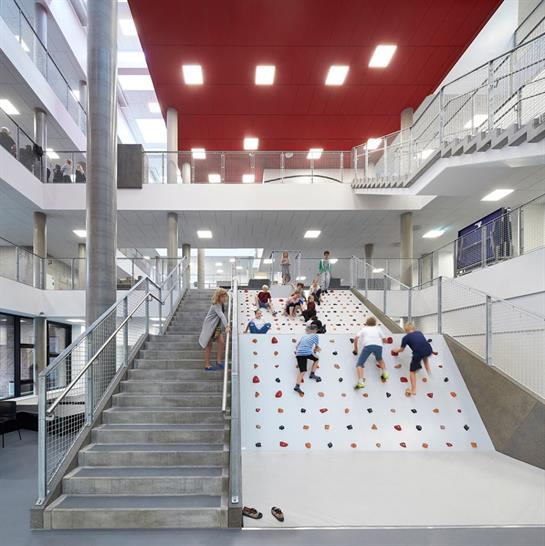 "<a href=""https://backstage.worldarchitecturenews.com/wanawards/project/frederiksbjerg-school-new/"" target=""_blank"">Frederiksbjerg School</a> by Henning Larsen Architects &copy; Hufton + Crow"