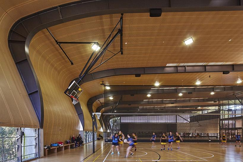 "<a href=""https://backstage.worldarchitecturenews.com/wanawards/project/abbotsleigh-multi-purpose-sports-hall/"" target=""_blank"">The Judith Poole Sports Hall</a> by Allen Jack+Cottier © Tyrone Branigan"