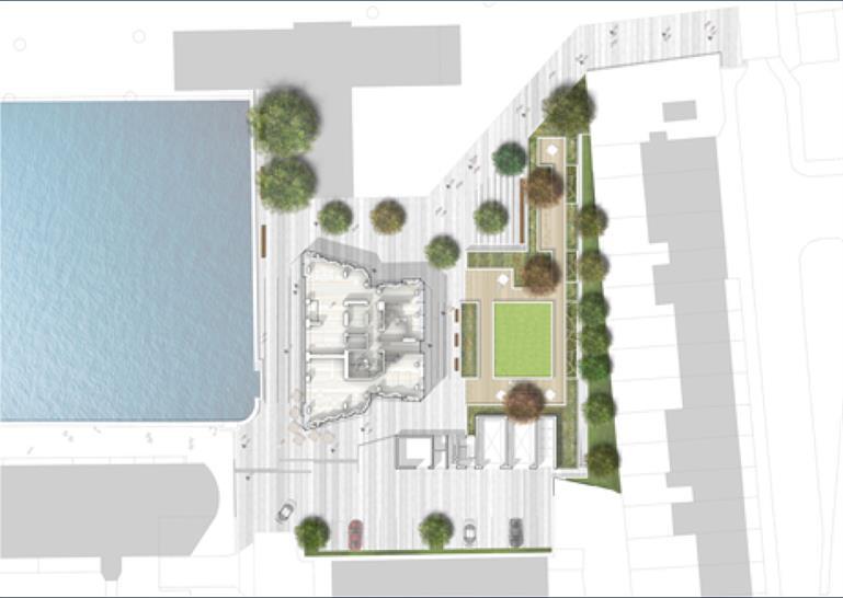 SimpsonHaugh Dollar Bay Ground Floor Site Plan © Hufton+Crow
